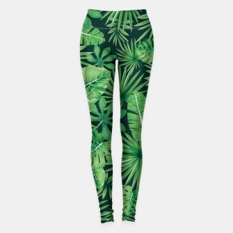 Thumbnail image of Capital Letter W Alphabet Monogram Initial Flower Gardener Leggings, Live Heroes