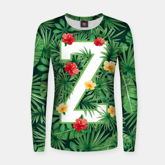 Thumbnail image of Capital Letter Z Alphabet Monogram Initial Flower Gardener Women sweater, Live Heroes