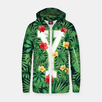 Thumbnail image of Capital Letter Y Alphabet Monogram Initial Flower Gardener Zip up hoodie, Live Heroes