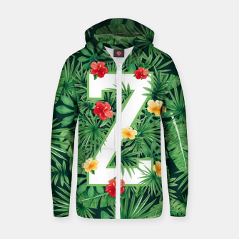 Thumbnail image of Capital Letter Z Alphabet Monogram Initial Flower Gardener Zip up hoodie, Live Heroes