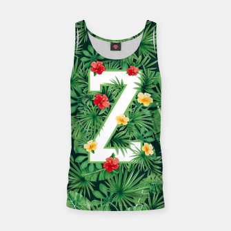 Thumbnail image of Capital Letter Z Alphabet Monogram Initial Flower Gardener Tank Top, Live Heroes