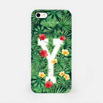 Thumbnail image of Capital Letter Y Alphabet Monogram Initial Flower Gardener iPhone Case, Live Heroes
