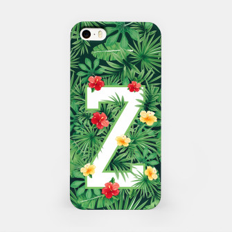 Thumbnail image of Capital Letter Z Alphabet Monogram Initial Flower Gardener iPhone Case, Live Heroes