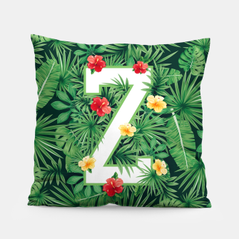 Thumbnail image of Capital Letter Z Alphabet Monogram Initial Flower Gardener Pillow, Live Heroes