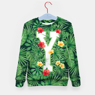 Thumbnail image of Capital Letter Y Alphabet Monogram Initial Flower Gardener Kid's sweater, Live Heroes