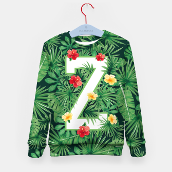 Thumbnail image of Capital Letter Z Alphabet Monogram Initial Flower Gardener Kid's sweater, Live Heroes