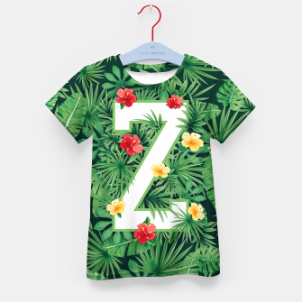 Thumbnail image of Capital Letter Z Alphabet Monogram Initial Flower Gardener Kid's t-shirt, Live Heroes