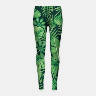 Thumbnail image of Capital Letter Z Alphabet Monogram Initial Flower Gardener Girl's leggings, Live Heroes