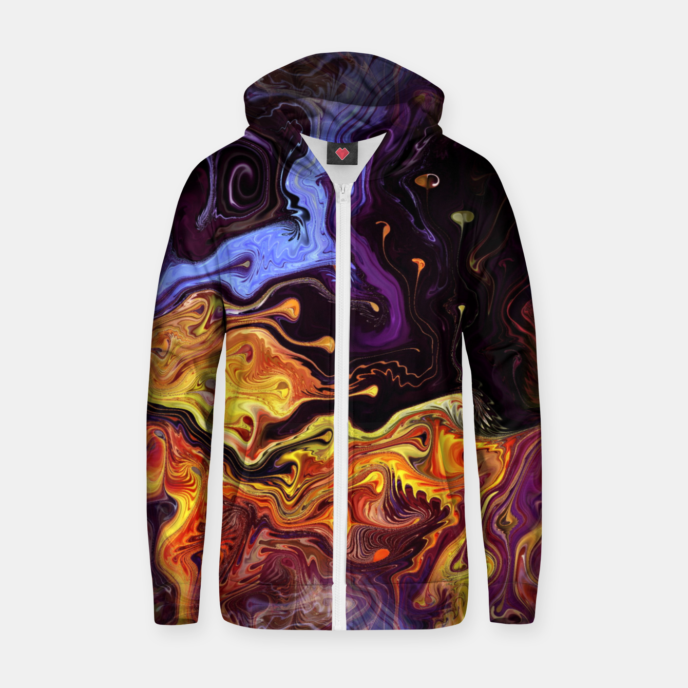 Image of Starry Night Skies Nebula Space Theme Zip up hoodie - Live Heroes