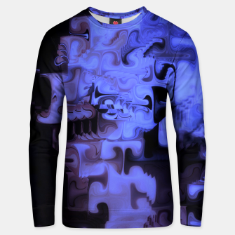 Thumbnail image of Deep Sea Coastal Blues Waveflow Pattern Unisex sweater, Live Heroes