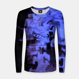 Thumbnail image of Deep Sea Coastal Blues Waveflow Pattern Women sweater, Live Heroes