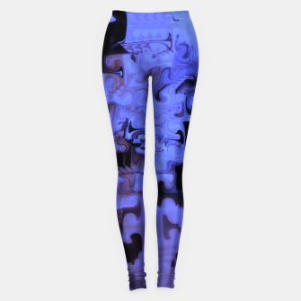 Thumbnail image of Deep Sea Coastal Blues Waveflow Pattern Leggings, Live Heroes