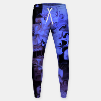 Thumbnail image of Deep Sea Coastal Blues Waveflow Pattern Sweatpants, Live Heroes