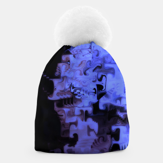Thumbnail image of Deep Sea Coastal Blues Waveflow Pattern Beanie, Live Heroes