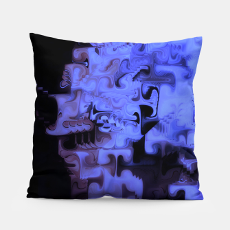 Miniaturka Deep Sea Coastal Blues Waveflow Pattern Pillow, Live Heroes