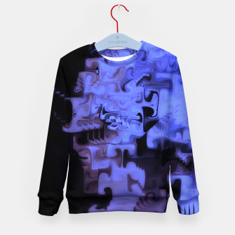 Thumbnail image of Deep Sea Coastal Blues Waveflow Pattern Kid's sweater, Live Heroes