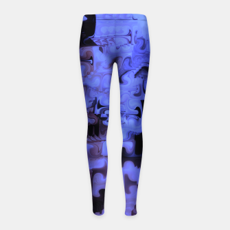 Thumbnail image of Deep Sea Coastal Blues Waveflow Pattern Girl's leggings, Live Heroes