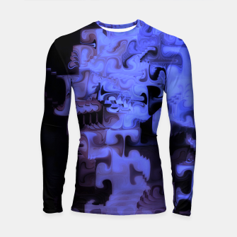 Thumbnail image of Deep Sea Coastal Blues Waveflow Pattern Longsleeve rashguard , Live Heroes