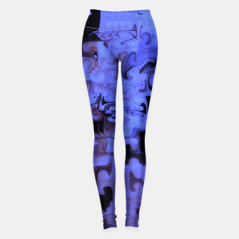 Miniaturka Deep Sea Coastal Blues Waveflow Pattern Leggings, Live Heroes