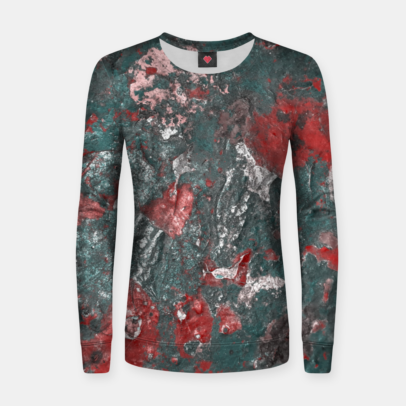 Image of Multicolored Abstract Print Women sweater - Live Heroes