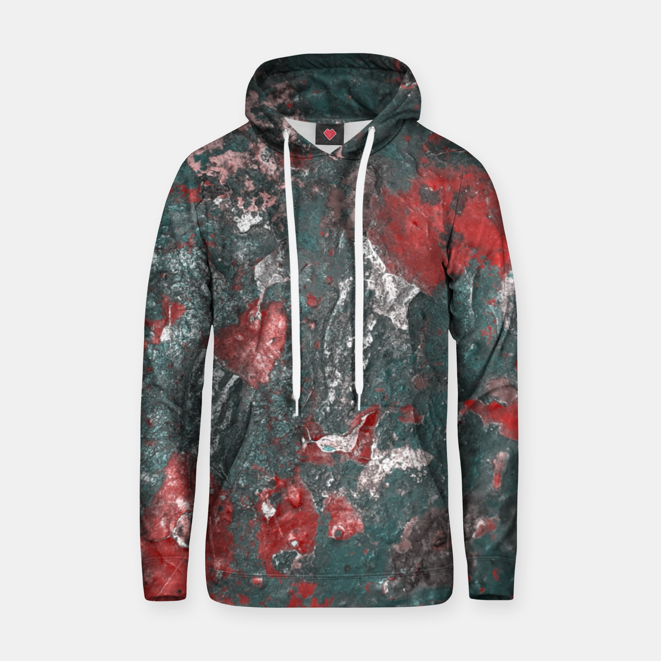 Image of Multicolored Abstract Print Hoodie - Live Heroes