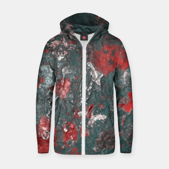 Thumbnail image of Multicolored Abstract Print Zip up hoodie, Live Heroes