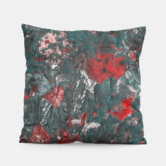 Thumbnail image of Multicolored Abstract Print Pillow, Live Heroes
