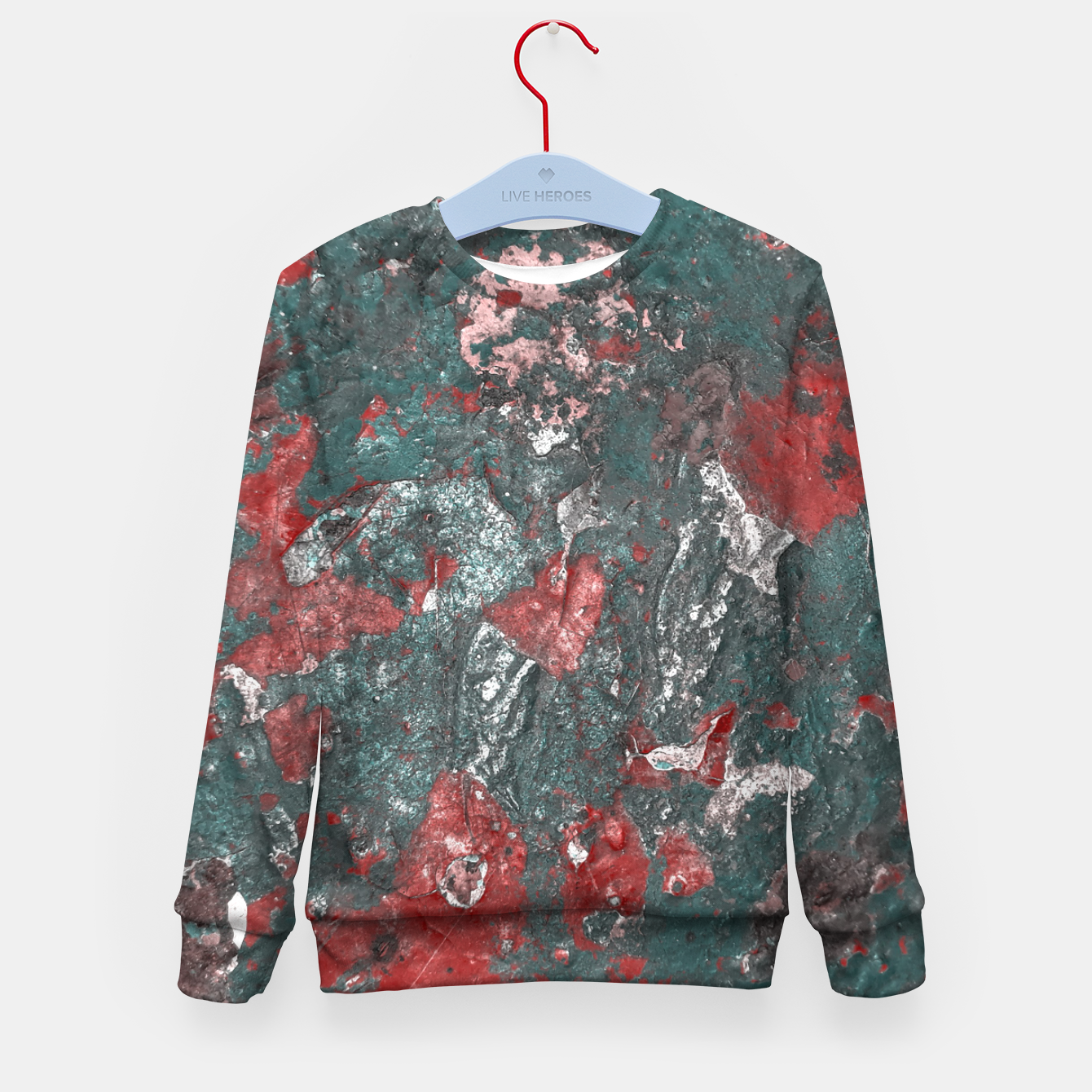 Image of Multicolored Abstract Print Kid's sweater - Live Heroes