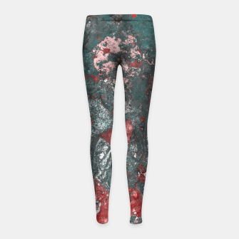 Thumbnail image of Multicolored Abstract Print Girl's leggings, Live Heroes
