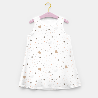 Miniaturka Terrazzo in beige Girl's summer dress, Live Heroes