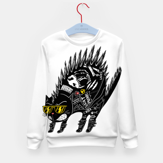 Thumbnail image of Catpunk Kid's sweater, Live Heroes