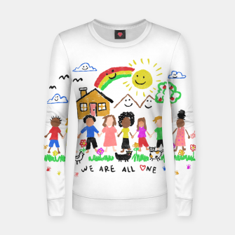 Thumbnail image of We are all One Women sweater, Live Heroes