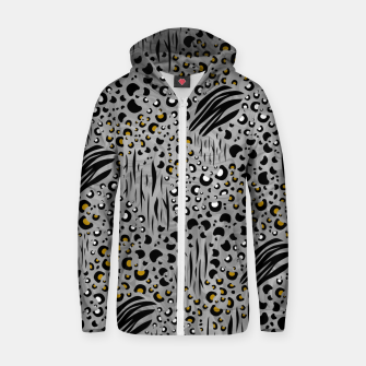 Thumbnail image of Safari Collage Grey Zip up hoodie, Live Heroes