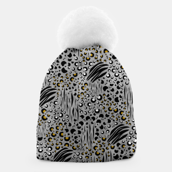 Thumbnail image of Safari Collage Grey Beanie, Live Heroes
