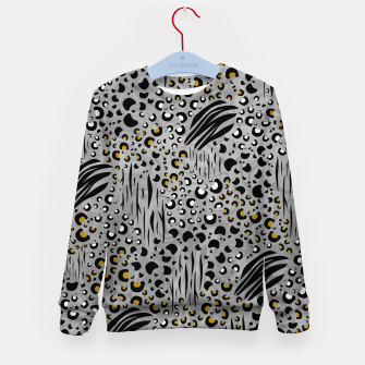 Thumbnail image of Safari Collage Grey Kid's sweater, Live Heroes
