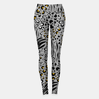 Thumbnail image of Safari Collage Grey Leggings, Live Heroes