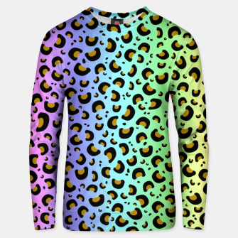 Thumbnail image of Rainbow Leopard Print Unisex sweater, Live Heroes