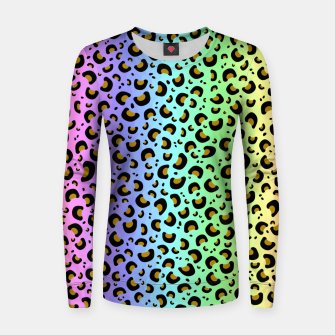 Thumbnail image of Rainbow Leopard Print Women sweater, Live Heroes
