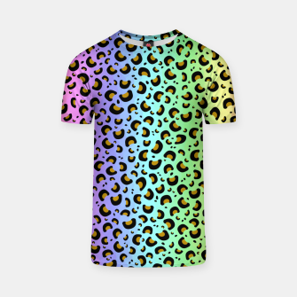 Thumbnail image of Rainbow Leopard Print T-shirt, Live Heroes