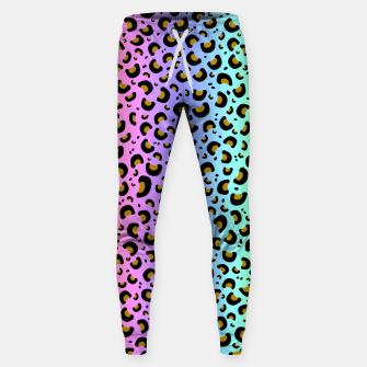 Thumbnail image of Rainbow Leopard Print Sweatpants, Live Heroes