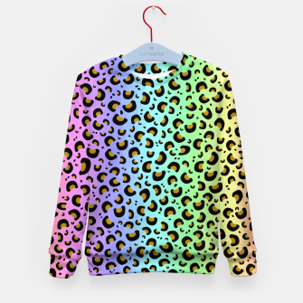 Thumbnail image of Rainbow Leopard Print Kid's sweater, Live Heroes