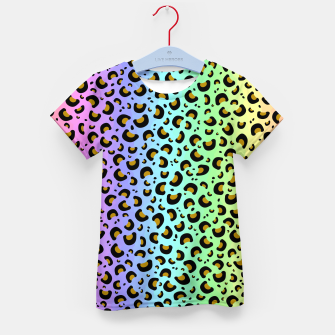 Thumbnail image of Rainbow Leopard Print Kid's t-shirt, Live Heroes