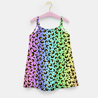 Miniaturka Rainbow Leopard Print Girl's dress, Live Heroes