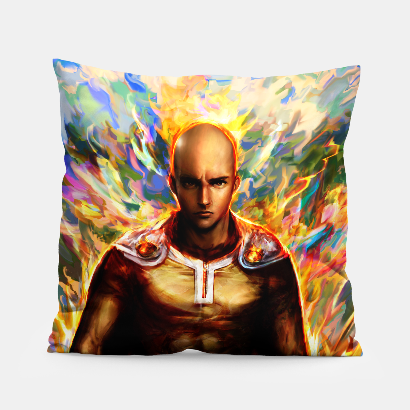 Image of One Punch Man Saitama Pillow - Live Heroes