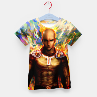Miniaturka One Punch Man Saitama Kid's t-shirt, Live Heroes