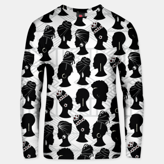 Thumbnail image of Black Woman Silhouette Unisex sweater, Live Heroes