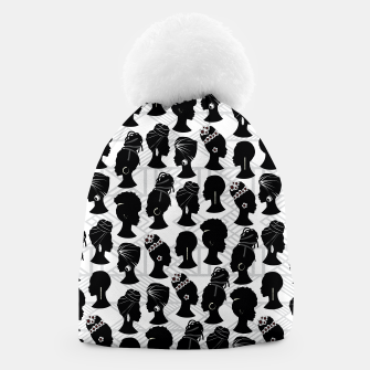 Thumbnail image of Black Woman Silhouette Beanie, Live Heroes