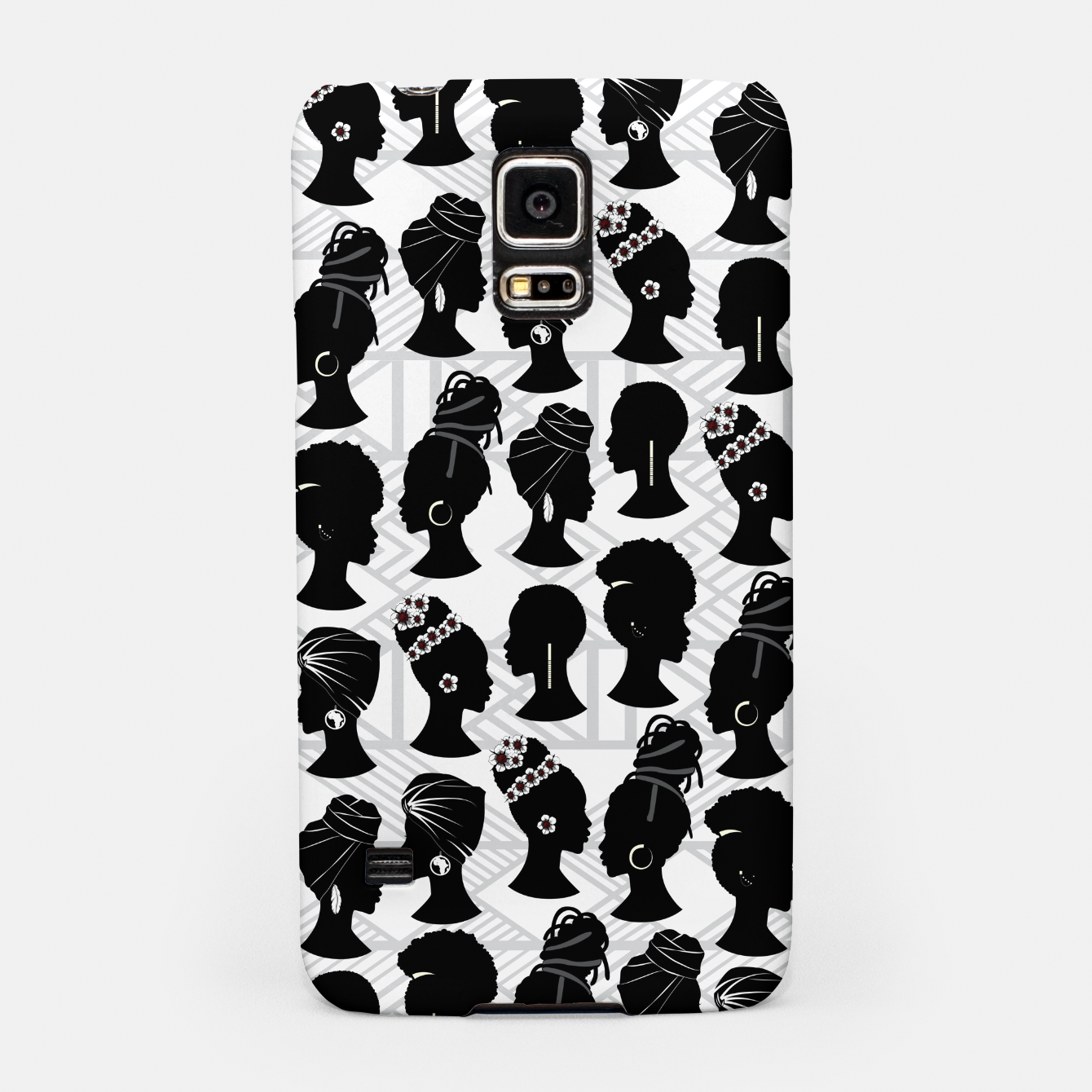 Image of Black Woman Silhouette Samsung Case - Live Heroes