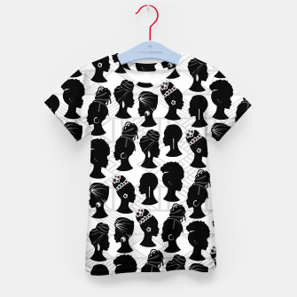 Thumbnail image of Black Woman Silhouette Kid's t-shirt, Live Heroes