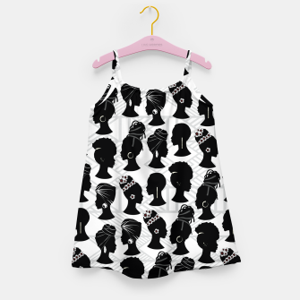 Thumbnail image of Black Woman Silhouette Girl's dress, Live Heroes